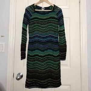 M Missoni Multicolor Striped Knit Dress
